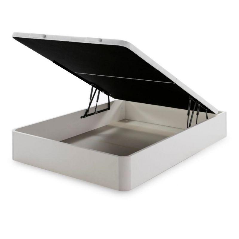 Sommier Coffre D-M GOYA - 180x200 DOUBLE PLATEAU BLANC