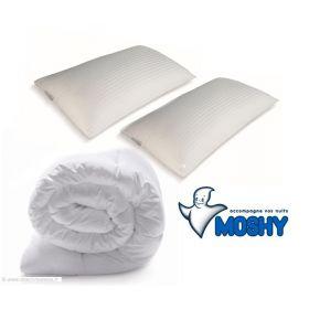 Pack Mémoire de forme MOSHY - couette 240x220 + 2 oreillers 70x40
