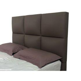 t te de lit grand carr gris l phant d m 160. Black Bedroom Furniture Sets. Home Design Ideas