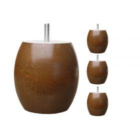 Pieds de lit Boule - H.10cm Ø95 Teinte Chêne