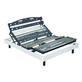 Sommier Relaxation électrique D.M. UNIBACK MONO - 140x190 Finition Frêne Blanc