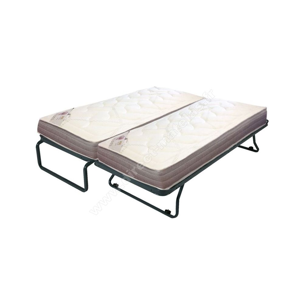 pack 80x190 matelas d m em sommier ebac lit gigogne. Black Bedroom Furniture Sets. Home Design Ideas