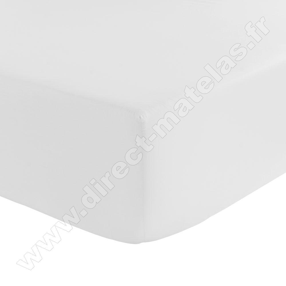 drap housse sp cial grande paisseur tradilinge blanc 140x190. Black Bedroom Furniture Sets. Home Design Ideas