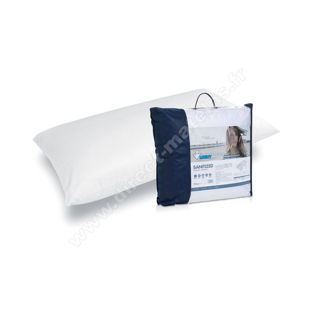 oreillers moshy sanitized 70x50. Black Bedroom Furniture Sets. Home Design Ideas