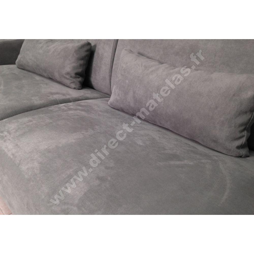 canap convertible d m michel micro gris clair couchage. Black Bedroom Furniture Sets. Home Design Ideas