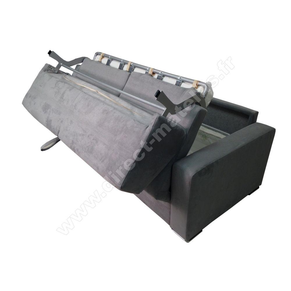 Convertible D 140x190 Fonçé Canapé Micro mMichel Couchage Gris e9WD2YEHI