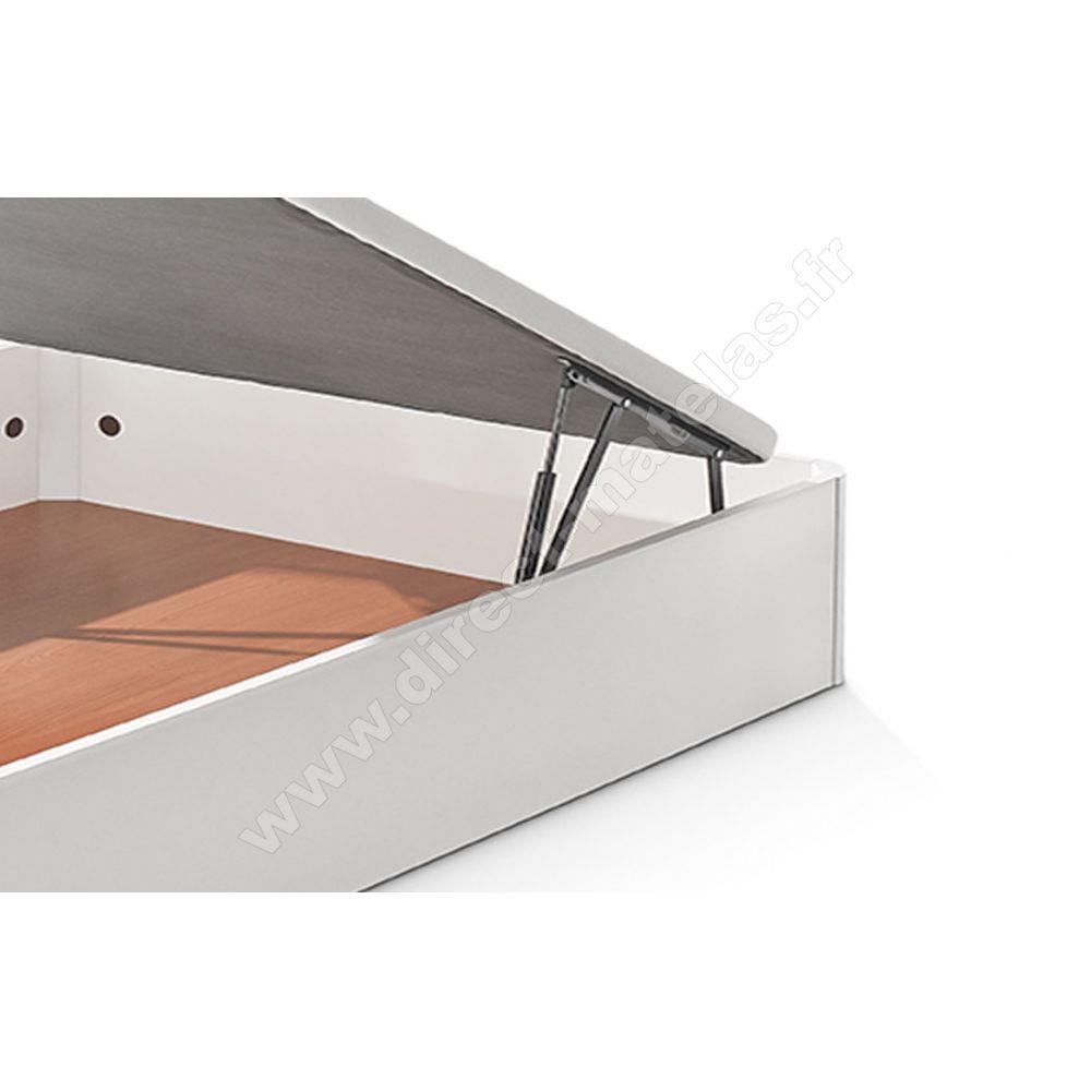 sommier coffre madera bultex 120x190 wenge. Black Bedroom Furniture Sets. Home Design Ideas
