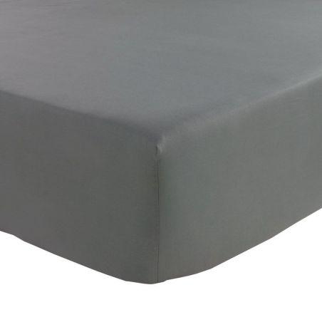 Drap housse Percale Blanc Bonnets 30cm TRADILINGE - 140x190
