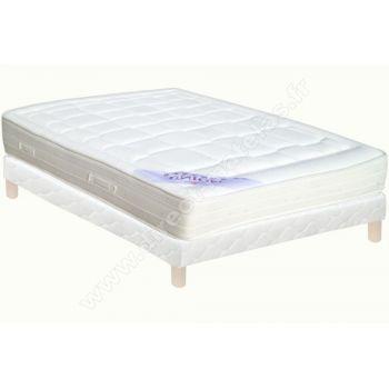 pack 140x200 matelas merinos g580 sommier d m selux tapissier lattes pieds de lit. Black Bedroom Furniture Sets. Home Design Ideas