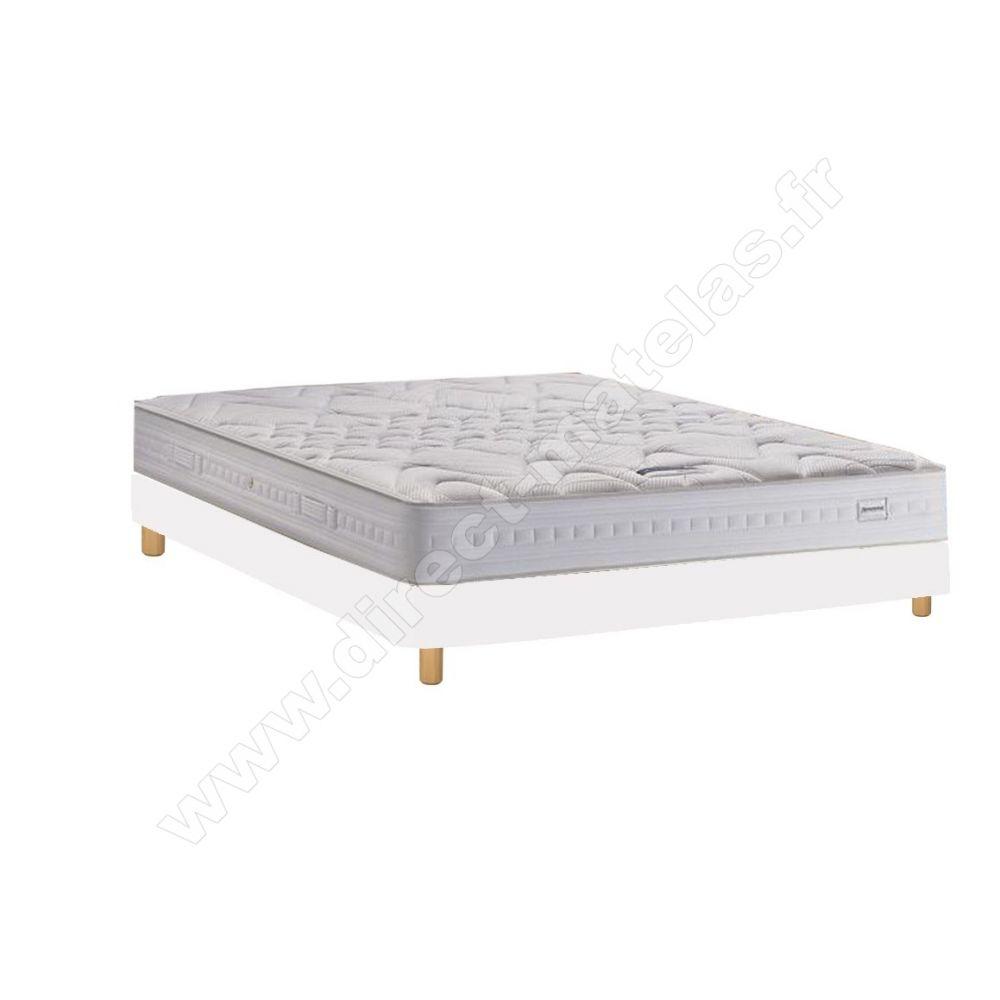 pack 160x190 matelas simmons lune sommier d m solux tapissier lattes pieds de lit. Black Bedroom Furniture Sets. Home Design Ideas