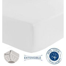 drap housse sp cial grande paisseur tradilinge blanc 80x190. Black Bedroom Furniture Sets. Home Design Ideas