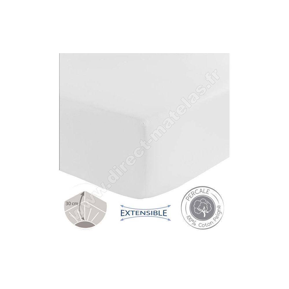 drap housse blanc 200x200 Drap housse Spécial grande épaisseur TRADILINGE   BLANC 200x200 drap housse blanc 200x200