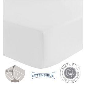 Drap housse Spécial grande épaisseur TRADILINGE - BLANC 180x200