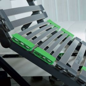 Pack 2x80x200 : Matelas PHYSIAL B 100% latex + Sommier ETERNEL DM Finition Cendre + Pieds Cylindriques