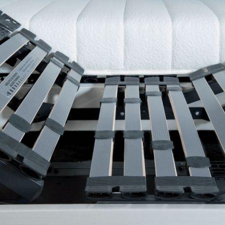 Sommier Relaxation électrique D.M. FIDJI Blanc - 2x80x200