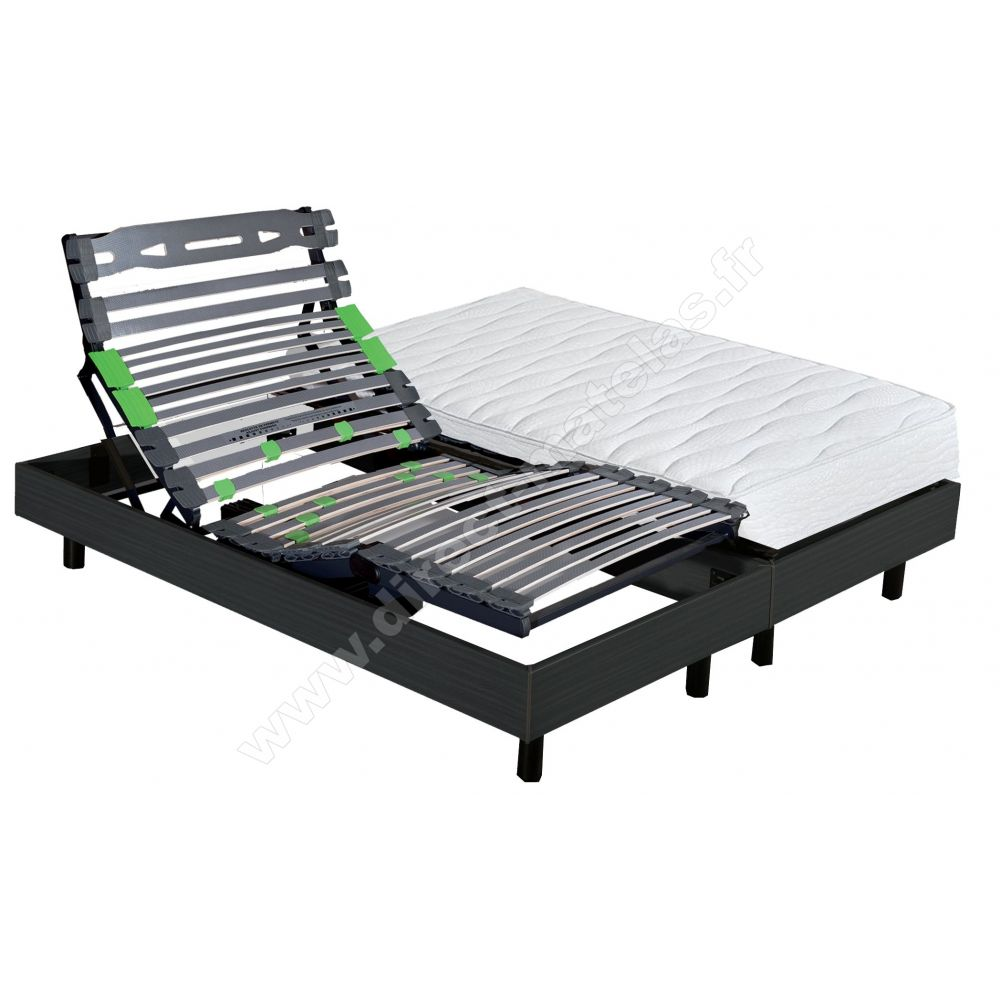 Pack 2x90x200 Matelas Epeda A Ressorts Ensaches Sommier Eternel