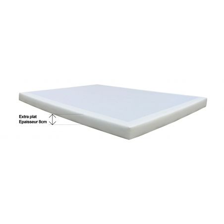 Sommier D.M. SOLUX EXTRA-PLAT tapissier - 160x200