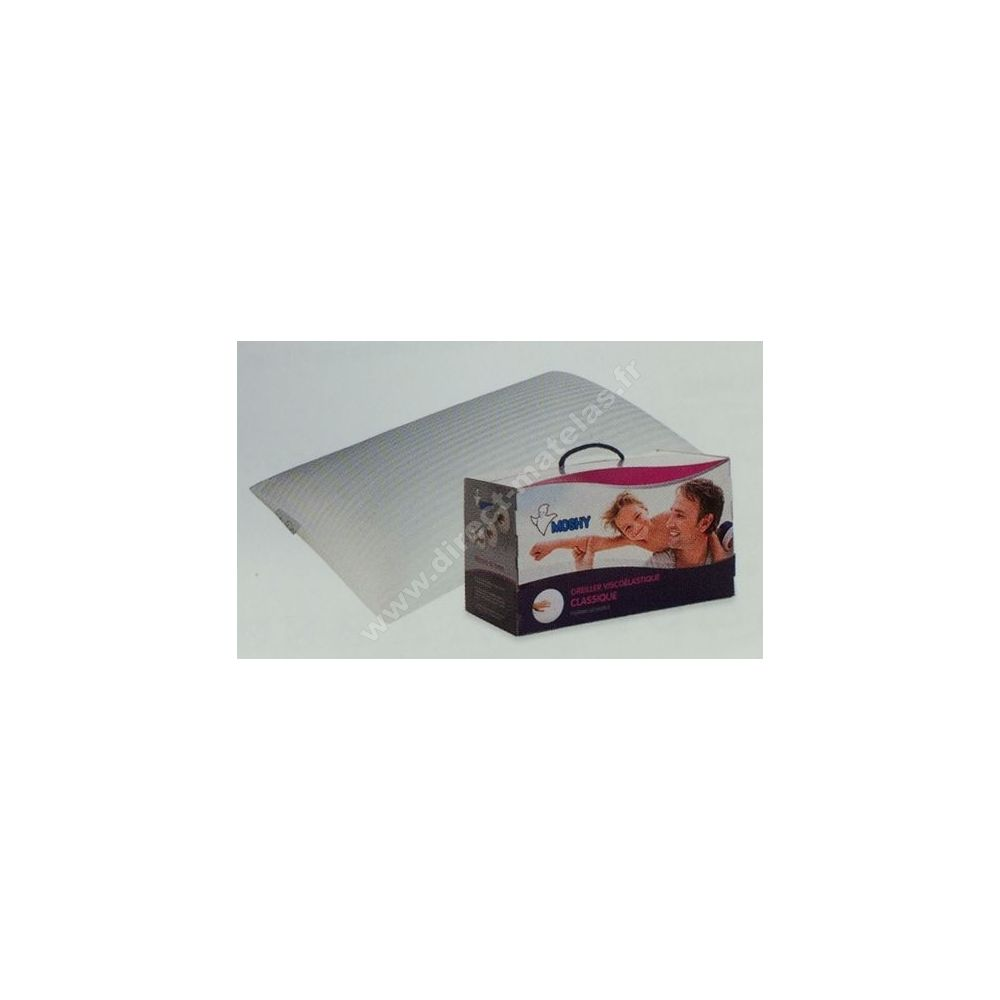 oreillers moshy memoire de forme 70x40. Black Bedroom Furniture Sets. Home Design Ideas
