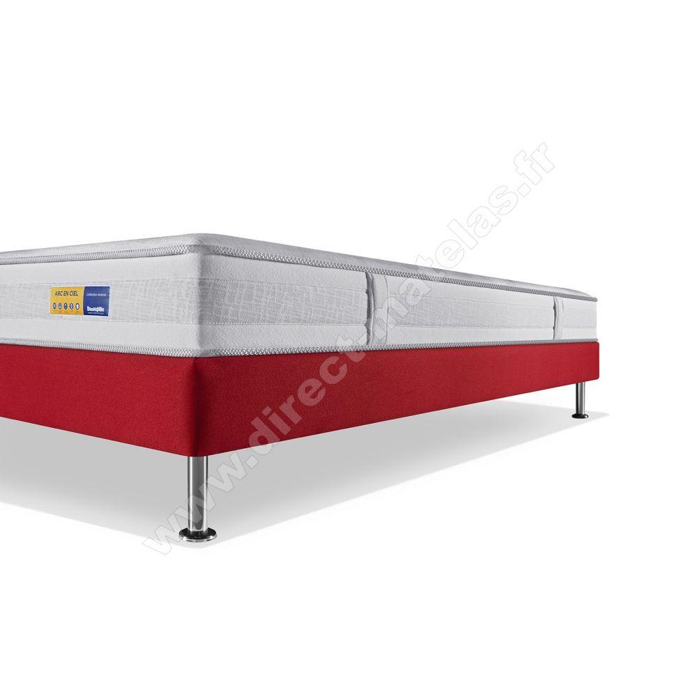 pack 140x190 matelas dunlopillo arc sommier d m selux. Black Bedroom Furniture Sets. Home Design Ideas