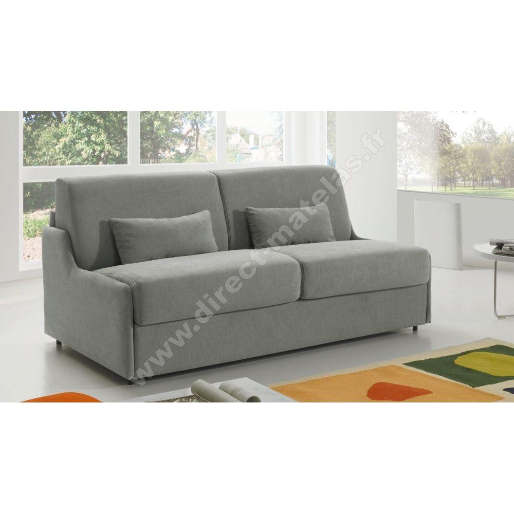 canap convertible d m gain de place tissu gris clair. Black Bedroom Furniture Sets. Home Design Ideas