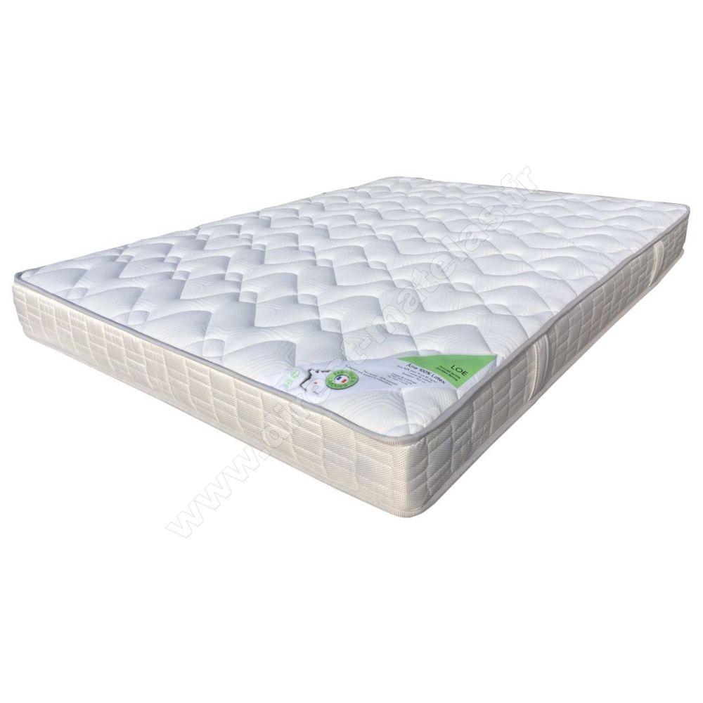 Pack 90x190 matelas direct matelas 100 latex lo sommier d m solux tapissier lattes pieds for Matelas 90x190