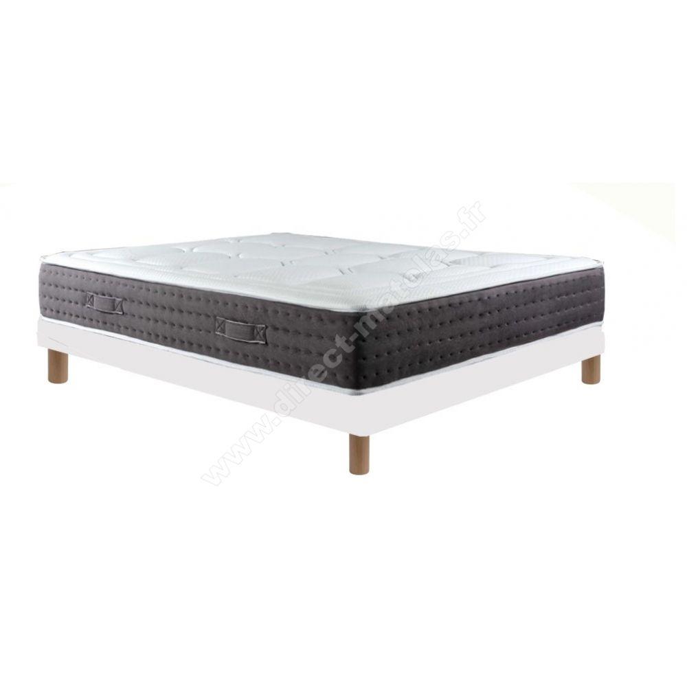 pack 160x200 matelas dm paradis sommier d m solux tapissier lattes pieds de lit cylindriques. Black Bedroom Furniture Sets. Home Design Ideas