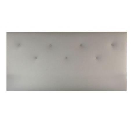 PACK SOMMIER + TETE DECO - 140x190 GRIS CLAIR