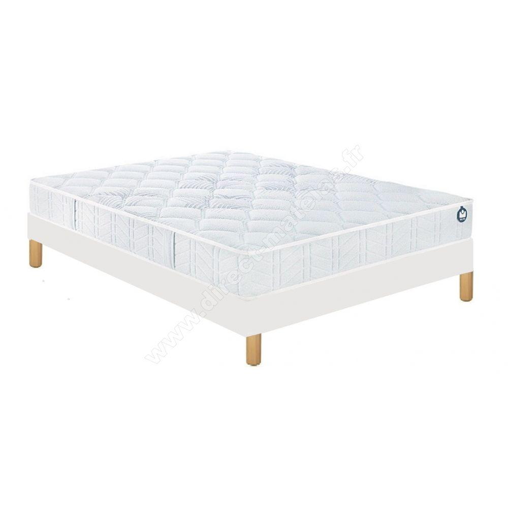 pack 90x200 matelas bultex assio sommier d m solux tapissier lattes pieds de lit cylindriques. Black Bedroom Furniture Sets. Home Design Ideas