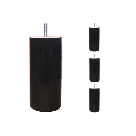 4 Pieds de lit Cylindriques - H. 15cm Ø7cm