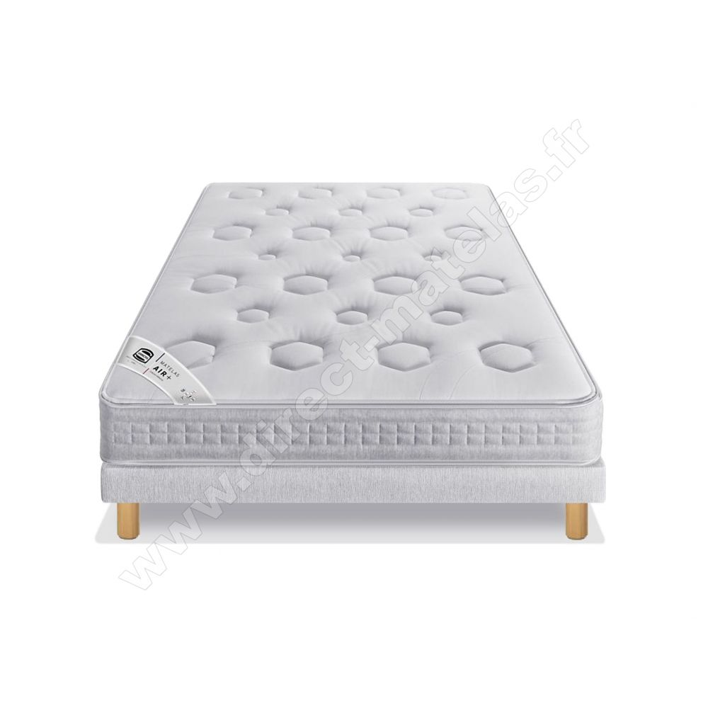 Pack 160x200 matelas sommier simmons millesime 2018 pieds de lit cylindriques - Matelas simmons millesime ...