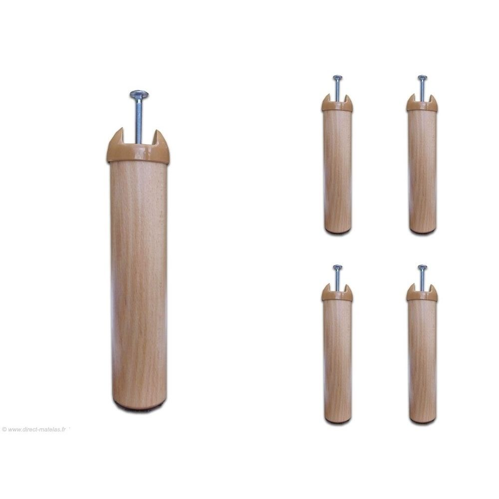 pieds bois pour cadres metallique qualilatte 221 jeu de 4 pieds bois. Black Bedroom Furniture Sets. Home Design Ideas