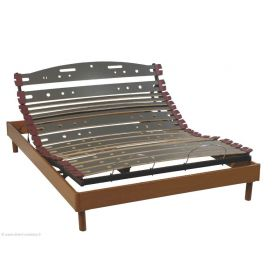 Sommier Relaxation électrique D.M. UNIBACK MONO - 120x190 Finition Merisier