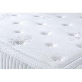 Pack 140X190 : Matelas DM PREMIUM + Sommier D.M. SOLUX tapissier lattes + Pieds de lit Cylindriques