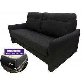 Canapé convertible DIVA VERANO - Tissu Anthracite