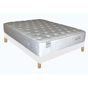 Pack 160X200 : Matelas DM NUAGE + Sommier D.M. SOLUX tapissier lattes + Pieds de lit Cylindriques