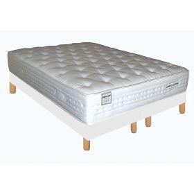 Pack 180X200 : Matelas DM NUAGE + Sommier D.M. SOLUX tapissier lattes + Pieds de lit Cylindriques