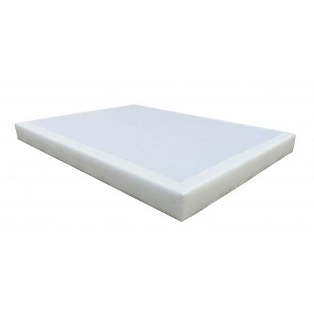 Pack 140x190 : Matelas SIMMONS SLEEP  + Sommier D.M. SOLUX Tapissier lattes + Pieds de lit Cylindriques