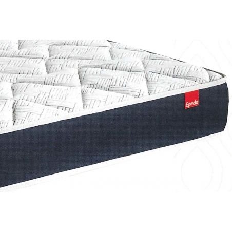 Pack 160x200 : Matelas EPEDA MULTISPIRES TRAME - 160x200 + Sommier EPEDA OUATINE FERME + Pieds de lit Cylindriques