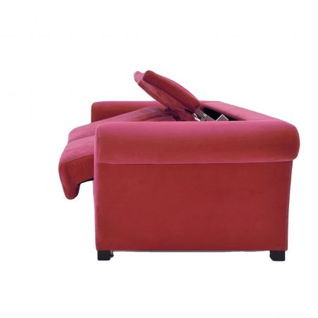 Canapé convertible D.M. COSY Tissu Rouge