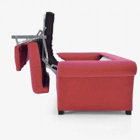 Canapé convertible D.M. COSY Tissu Rouge