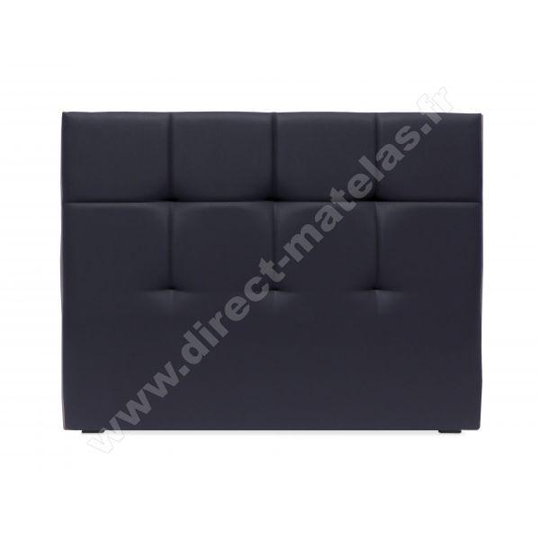 Tête de lit D.M. EPURE Look Cuir Blanc - Largeur 160