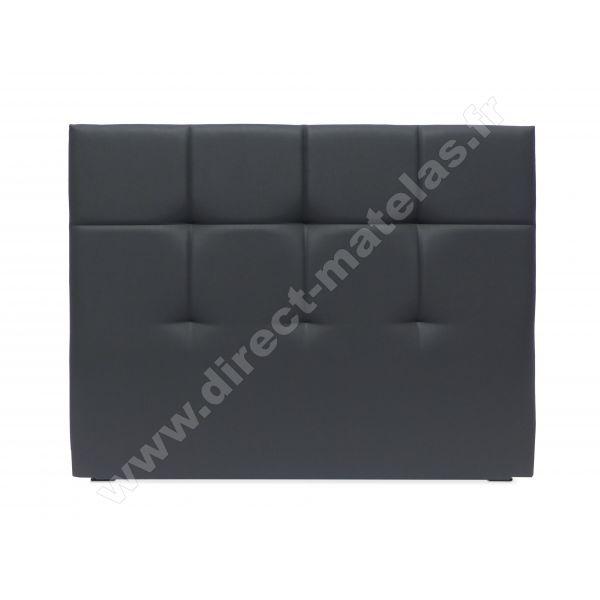 Tête de lit D.M. EPURE Look Cuir Noir - Largeur 160