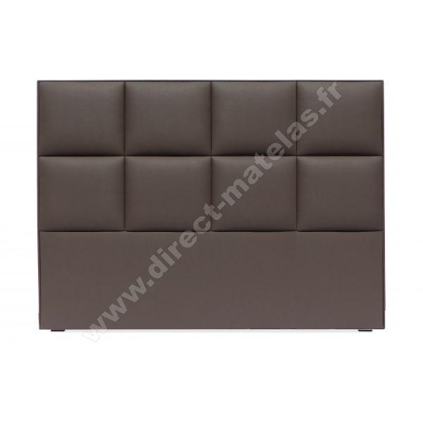 Tête de lit D.M. SHUN Look Cuir Noir - Largeur 160