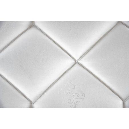 Pack 140x190 : Matelas EPEDA MULTI-AIR 1000  + Sommier D.M. SOLUX Tapissier lattes + Pieds de lit Cylindriques