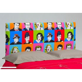 t te de lit originale graffitis d m 140. Black Bedroom Furniture Sets. Home Design Ideas