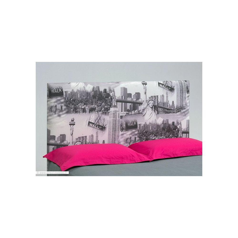 t te de lit originale new york d m 180. Black Bedroom Furniture Sets. Home Design Ideas