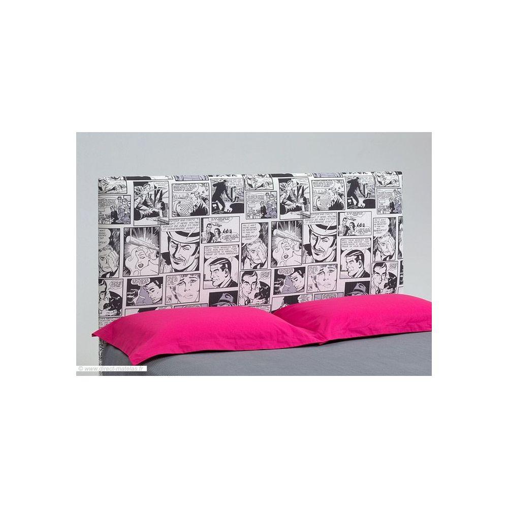 t te de lit originale bande dessin e d m 160. Black Bedroom Furniture Sets. Home Design Ideas