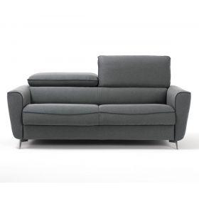 Canapé Convertible D.M. TETA Couchage 140x190 - Tissu chiné gris